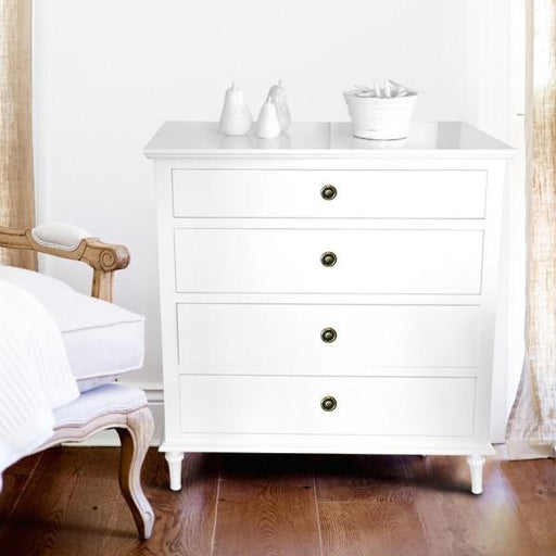 White Chest Of Drawers - 4 Drawer