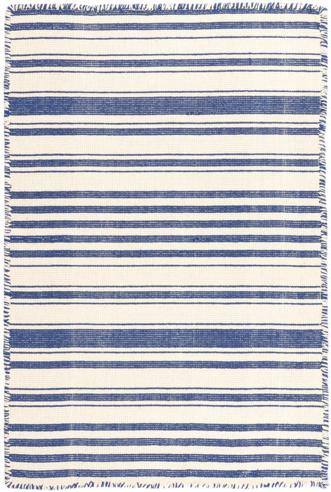 Mark D. Sikes Cotton Rug - Hampshire Stripe Cobalt