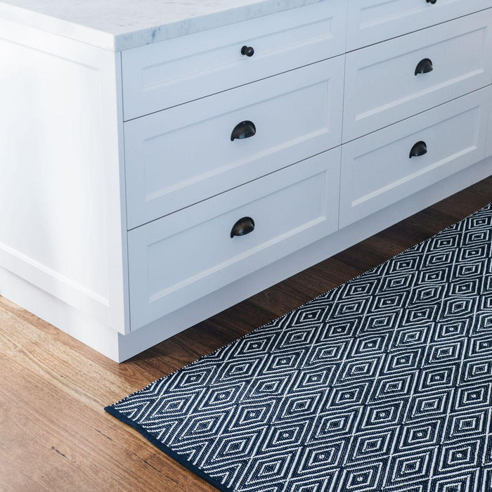 Indoor/Outdoor Rug - Diamond Navy