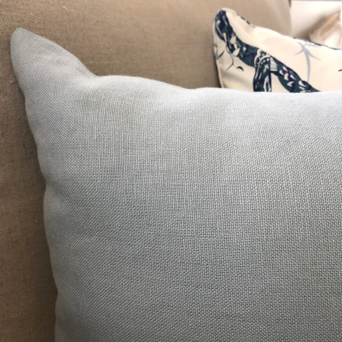 Duck Egg Blue Linen Cushion