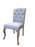 Duck Egg Blue Linen French Style Buttoned Dining Chair
