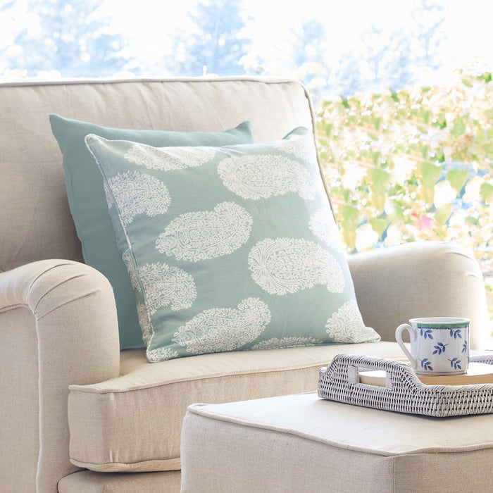 Sea Mist Paisley Cushion  - Overstock