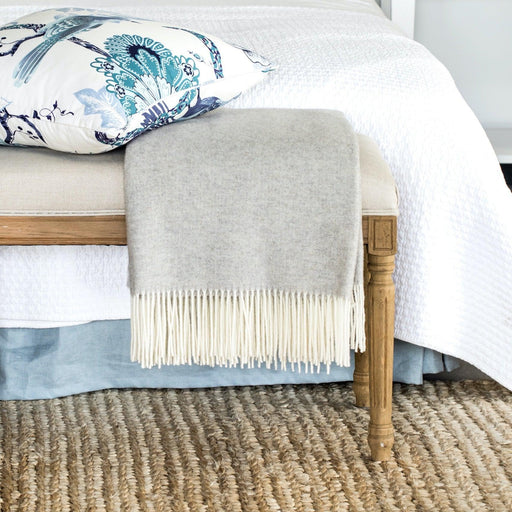 Natural Wool & Cashmere Throw