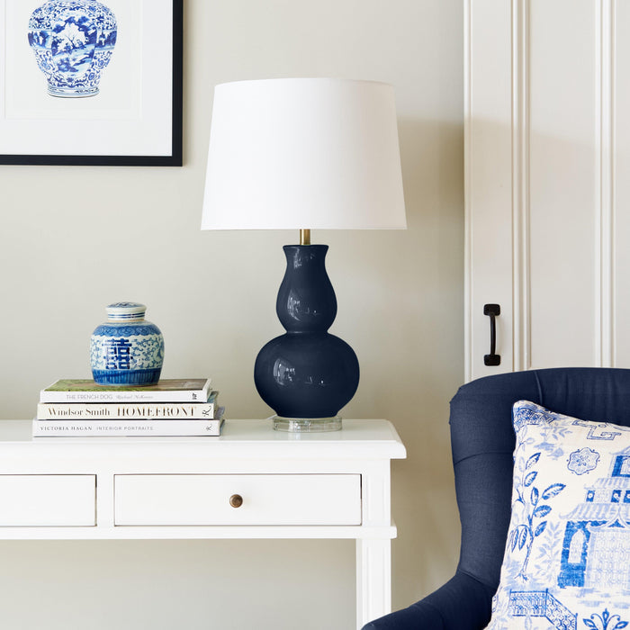 Navy Ceramic Lamp