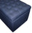 Navy Linen Blanket Box