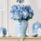 Faux Single Blue Hydrangea