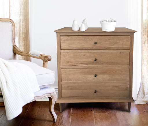 Oak Chest Of Drawers - 4 Drawer