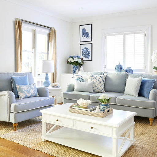 Hamptons Living Room Package - Duck Egg Blue