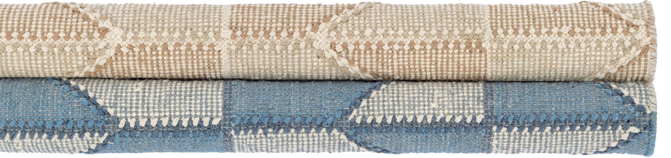 Mark D. Sikes Cotton Loom Knotted Rug - Ojai Blue