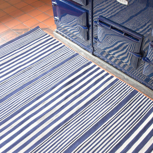 Indoor/Outdoor Rug - Rugby Stripe Denim