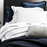 White with Navy Stripe Egyptian Cotton Sheet Set