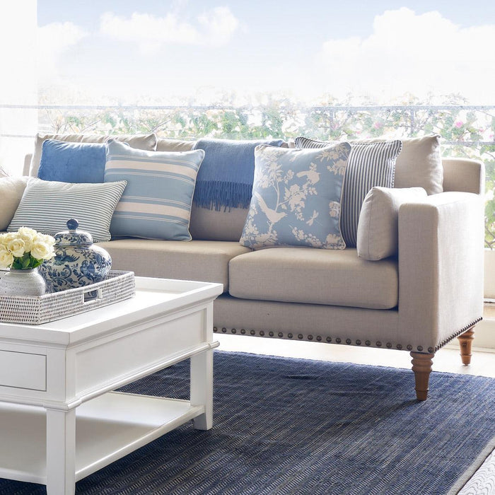 Hamptons Living Room Package - Natural Studded