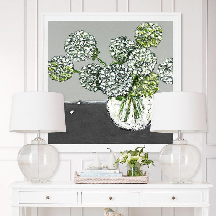 "Framed ""Hydrangea Whites"" Print - 3 Sizes"