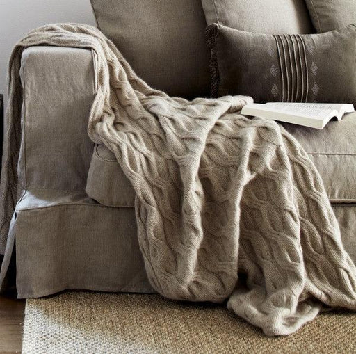 Bemboka Throw - Angora and Wool Chunky Cable