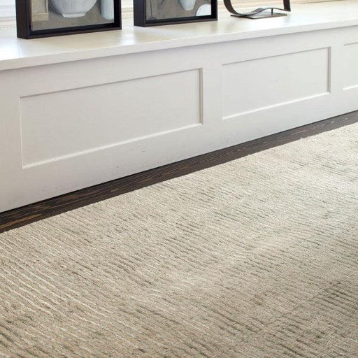 Wool & Viscose Rug - Cut Stripe Ocean