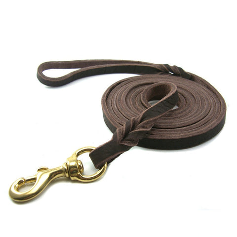 Strong Genuine Leather Dog Leash For Training / Walking Medium Large Dogs