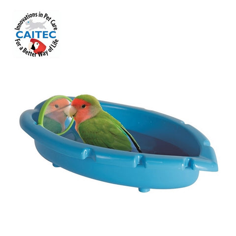 Parrot Bathtub With Mirror Best for Small Birds