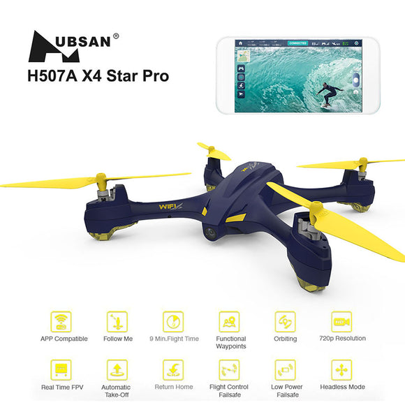 Hubsan H507A X4 Quadcopter with Camera Wifi Pro APP Driven Drone with Camera GPS RC Quadcopter FPV Helicopter RTF Drone -quadcopter, drone, FPV quadcopter, rc helicopter, racing Drone