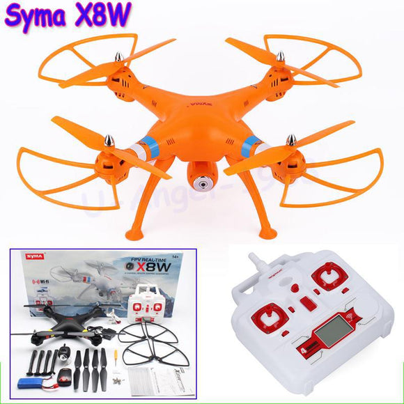 Syma X8W FPV 2.4Ghz Headless RC Quadcopter Drone UVA 2MP Wifi Camera RTF with Holder As Gift - Quadcopters and Drones for Less