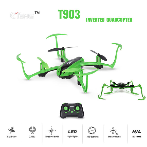 Original GTeng T903 Vortex Inverted 180 Degrees RC Quadcopter RTF Drone with Headless Mode -quadcopter, drone, FPV quadcopter, rc helicopter, racing Drone