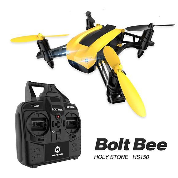 Holy Stone HS 150 Bolt Bee Mini Racing Drone, 6-Axis Gyro, Wind Resistance,  Includes Bonus Battery - Quadcopters and Drones for Less