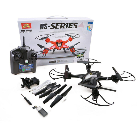 Holy Stone HS200 RC Drone, FPV HD Camera, Live Feed, Gravity Sensor, RTF Helicopter - Quadcopters and Drones for Less