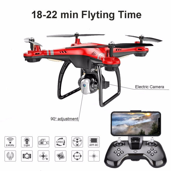 X8 RC Drone with HD 3MP Camera Altitude Hold One Key Return/Landing/Take Off Headless Mode 2.4G RC Quadcopter Drone -quadcopter, drone, FPV quadcopter, rc helicopter, racing Drone