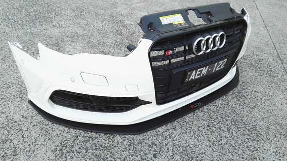 Audi S3 8V PFL Hatch Front Splitter | Flow Designs Australia