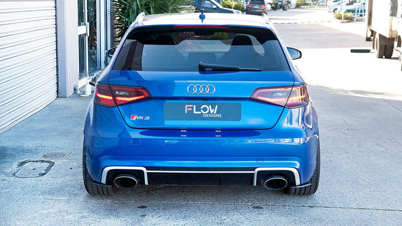 Audi RS3 8V PFL Hatch Rear Spats | Flow Designs Australia