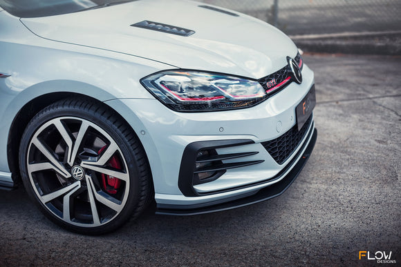 VW MK7.5 Golf GTI Front Splitter & Aero Spacers | Flow Designs Australia