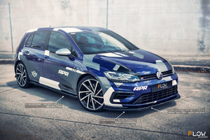 VW MK7.5 Golf R Side Splitters | Flow Designs Australia