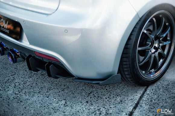 Flow Designs Rear Spats V3 - Volkswagen Golf R (MK6)