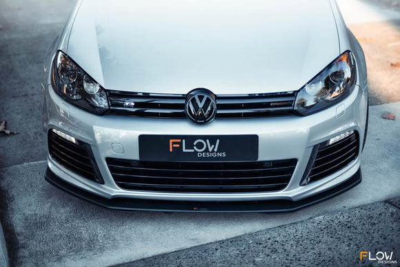 Flow Designs Front Splitter V3 - Volkswagen Golf R (MK6)