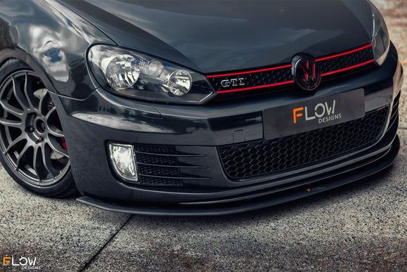 Flow Designs Front Splitter V3 - Volkswagen Golf GTI (MK6)