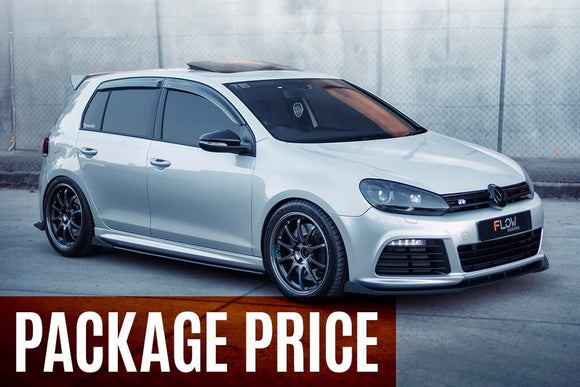 Flow Designs Full Splitter Set - Volkswagen Golf R (MK6)
