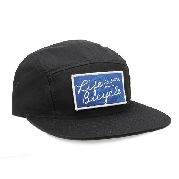 Bicycle Camper Hat Black
