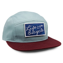 Load image into Gallery viewer, Bicycle Camper Hat Smoke Blue/Maroon