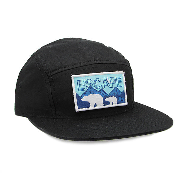 Escape Rectangle Camper Hat Black