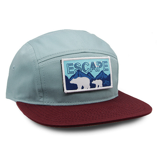 Escape Rectangle Camper Hat Smoke-Blue/Maroon
