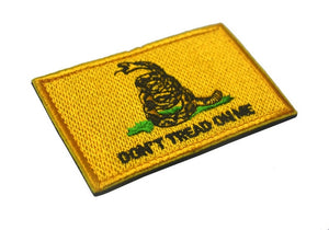 Tactical Morale Badge Embroidered Patches - Don't Tread on Me - Classic