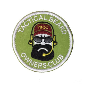 Tactical Beard Owners Club Embroidery Patch - Green