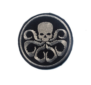 Tactical Morale Embroidery Patches - Hydra - Silver