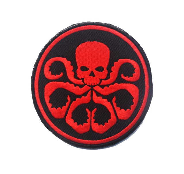 Tactical Morale Embroidery Patches - Hydra - Red/Black