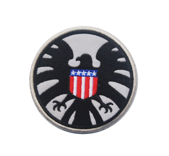 Tactical Morale Embroidery Patches - Shield - Silver