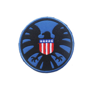 Tactical Morale Embroidery Patches - Shield - Blue/Black