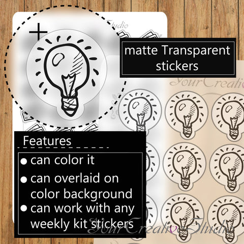 Transparent clear matte idea Stickers - YourCreativeStudio