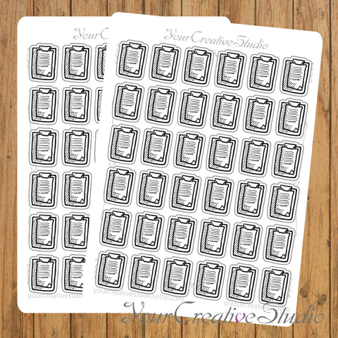 Transparent clear matte note Stickers - YourCreativeStudio