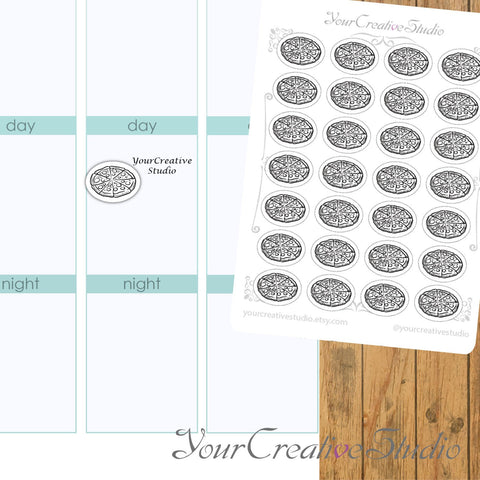 Transparent clear matte Pizza Stickers - YourCreativeStudio
