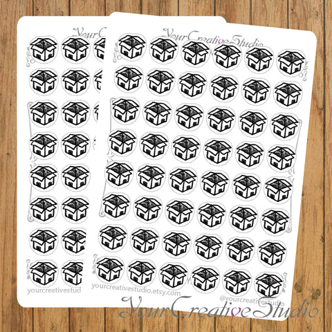 Transparent clear matte Parcels Stickers - YourCreativeStudio