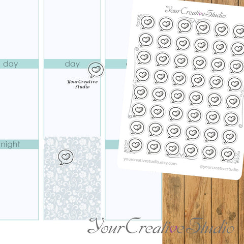 Transparent clear matte Heart bubble Stickers - YourCreativeStudio